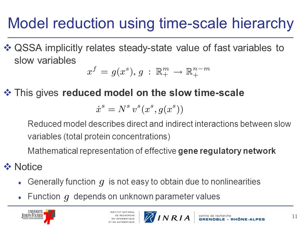 Model reduction using time-scale hierarchy
