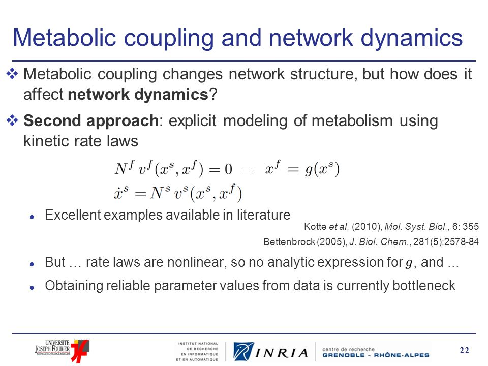 Metabolic coupling and network dynamics