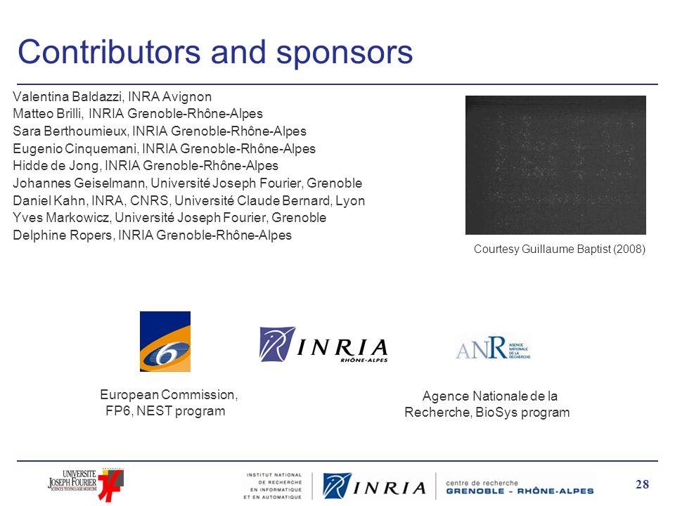 Contributors and sponsors