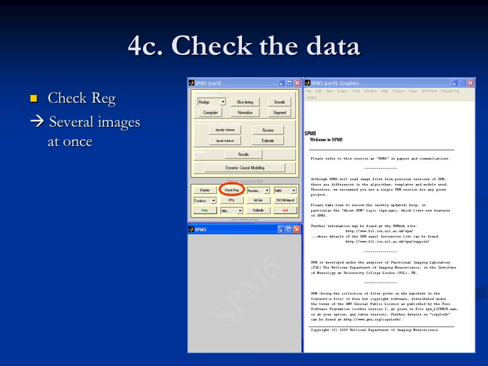 4c. Check the data Check Reg  Several images at once
