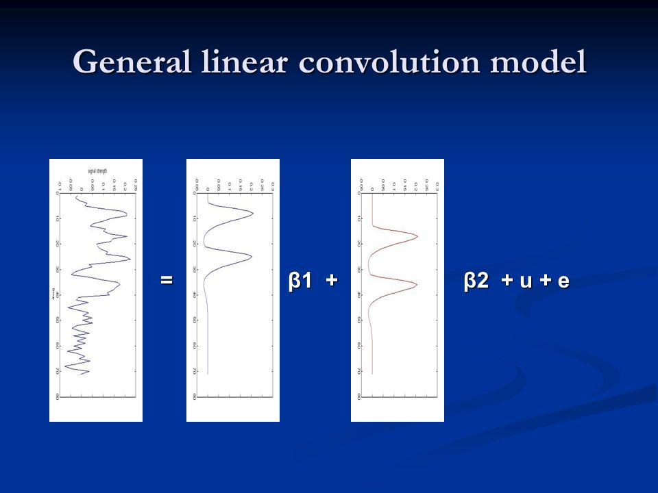 General linear convolution model