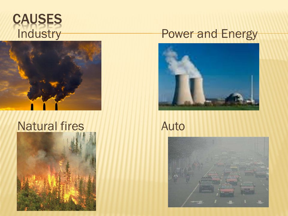 CAuses Industry Power and Energy Natural fires Auto