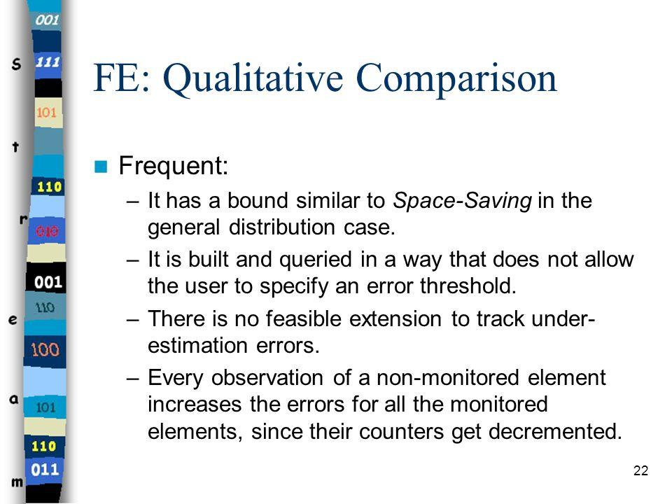 FE: Qualitative Comparison