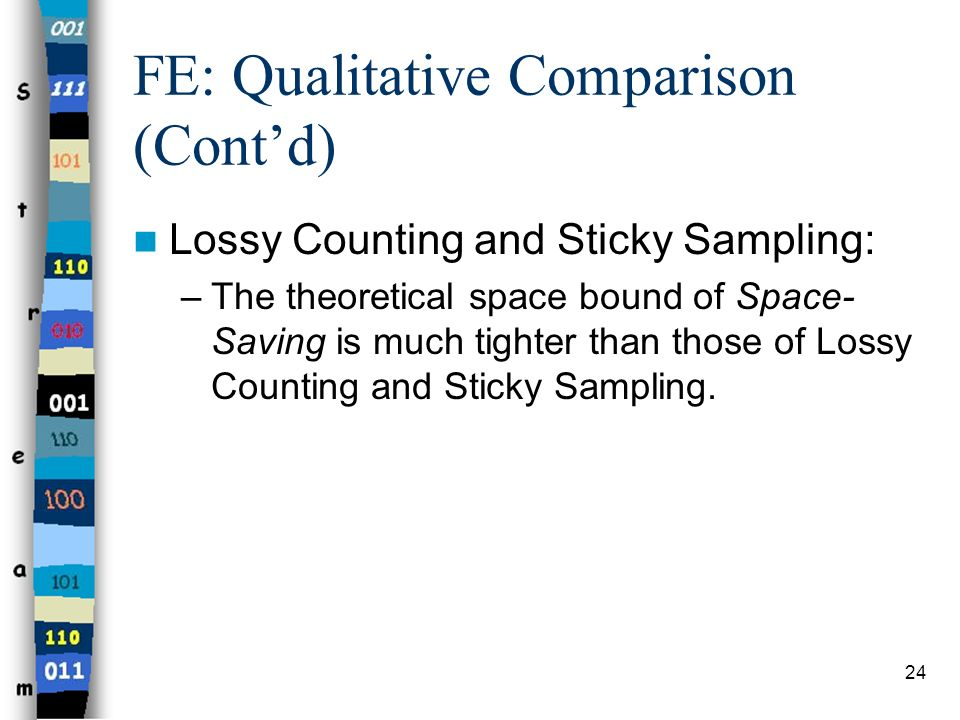 FE: Qualitative Comparison (Cont'd)