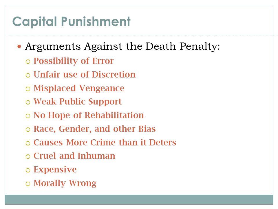 arguments against capital punishment essay