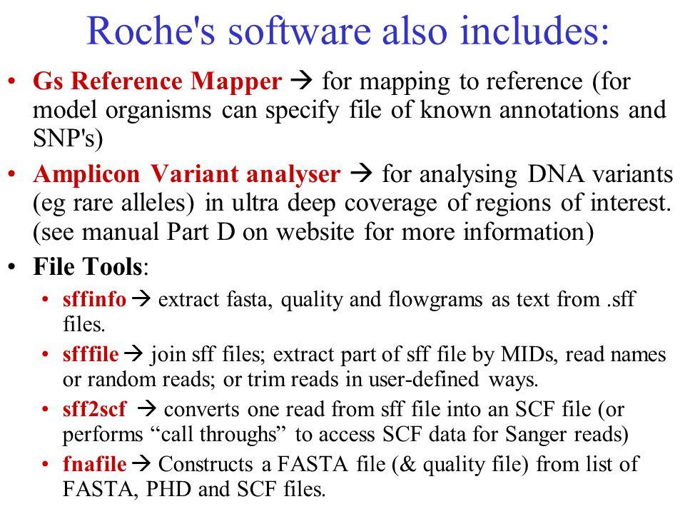 Roche s software also includes:
