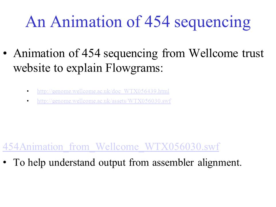 An Animation of 454 sequencing