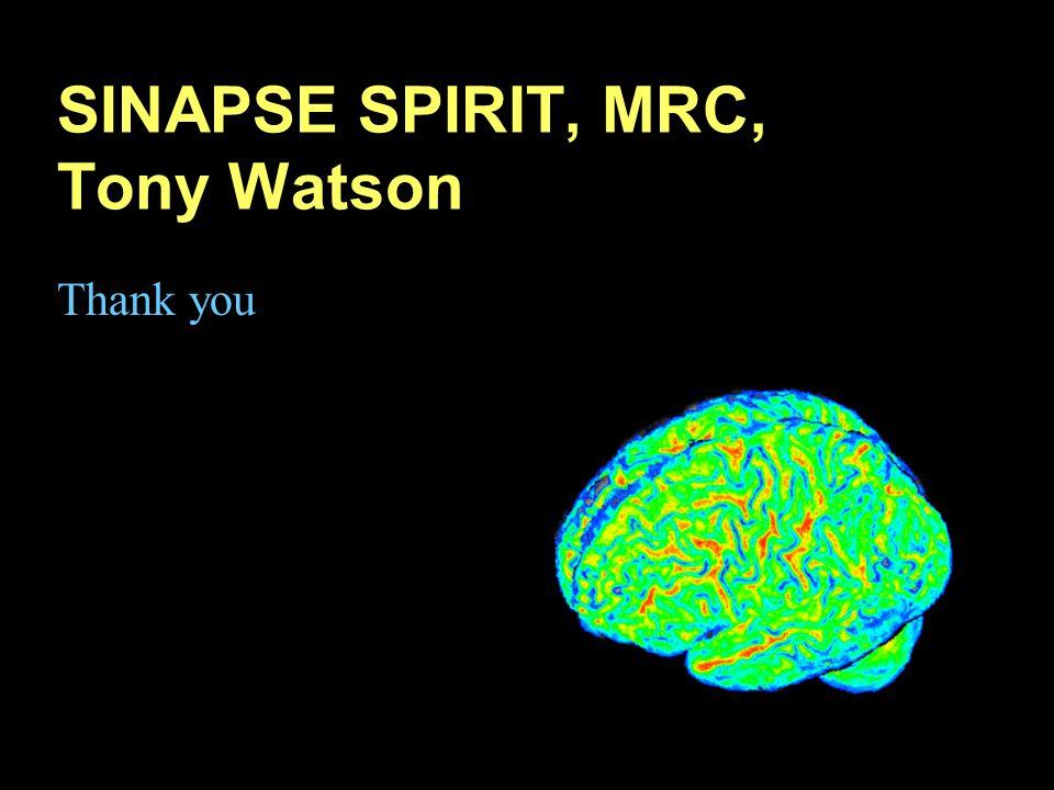 SINAPSE SPIRIT, MRC, Tony Watson