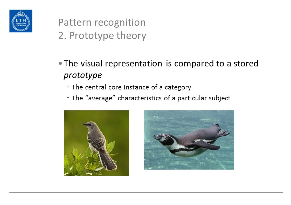 theories of pattern recognition Psychologists often distinguish between top-down and bottom-up approaches to information-processing in top-down approaches, knowledge or expectations are used to guide processing bottom-up approaches, however, are more like the structuralist approach, piecing together data until a bigger picture is arrived at.