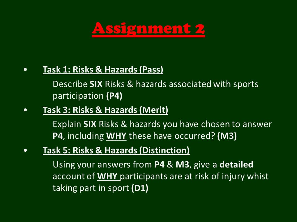 health and safety task 2 assignment Below is an essay on nvq 2 unit 208 task a from anti essays, your source for research papers, essays, and term paper examples unit 208 task a preparing for a trip out with elderly people.