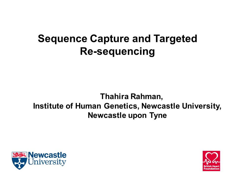 Sequence Capture and Targeted Re-sequencing