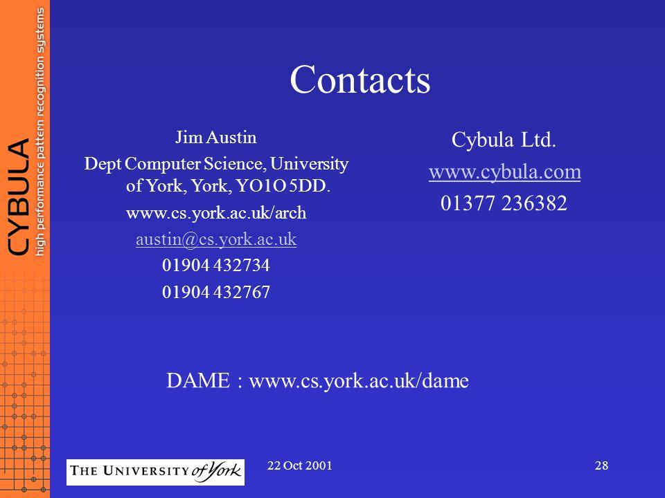 Dept Computer Science, University of York, York, YO1O 5DD.