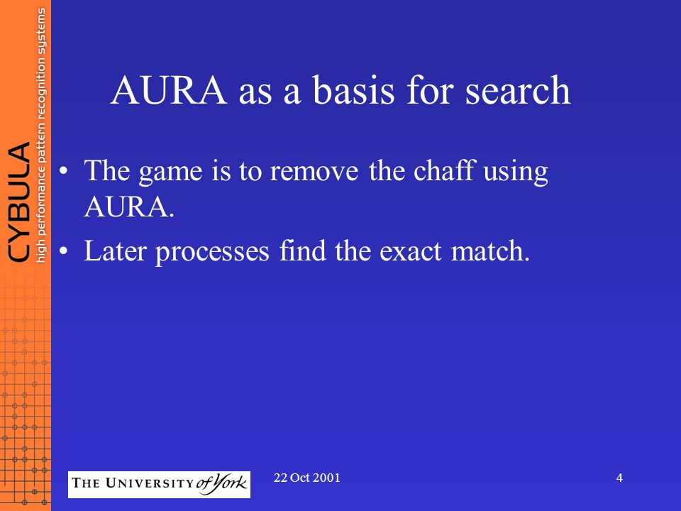 AURA as a basis for search