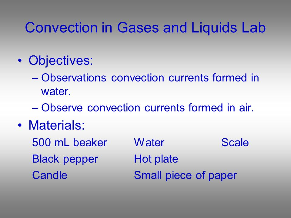Convection Convection Demo - ppt video online download