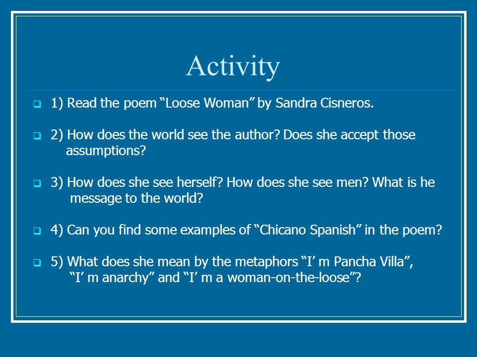 Chicano Literature Students: Castro, Carolina Frascino, Vanessa ...