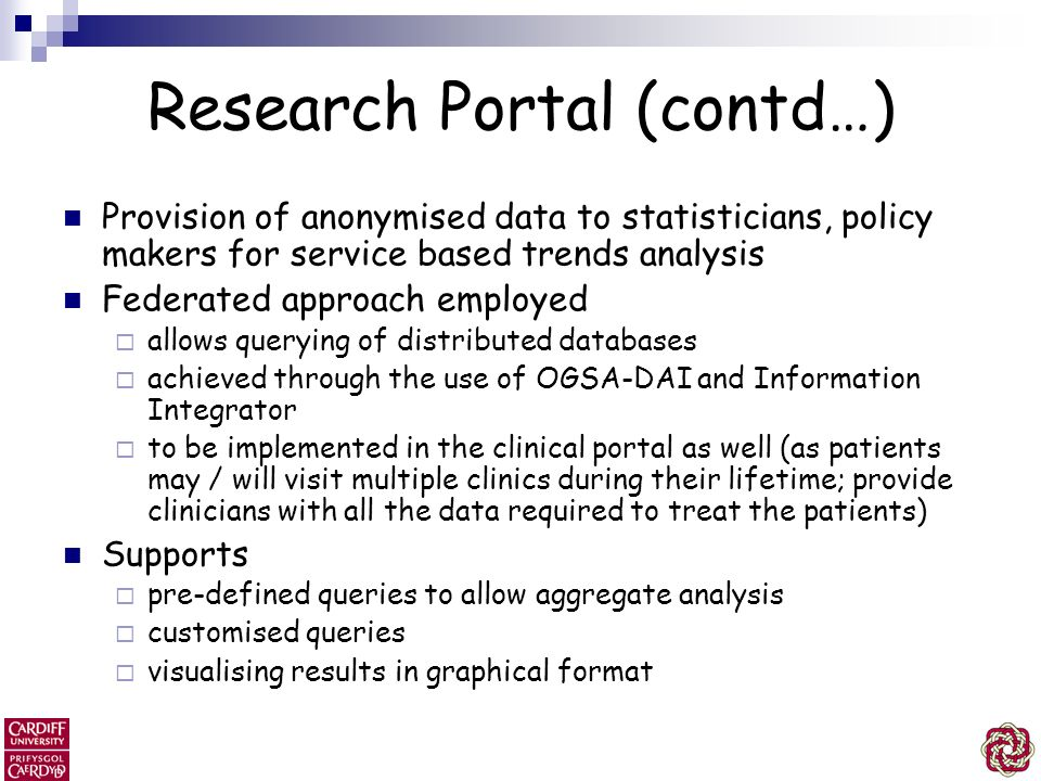 Research Portal (contd…)