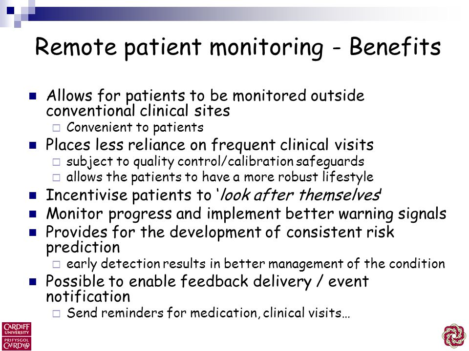 Remote patient monitoring - Benefits