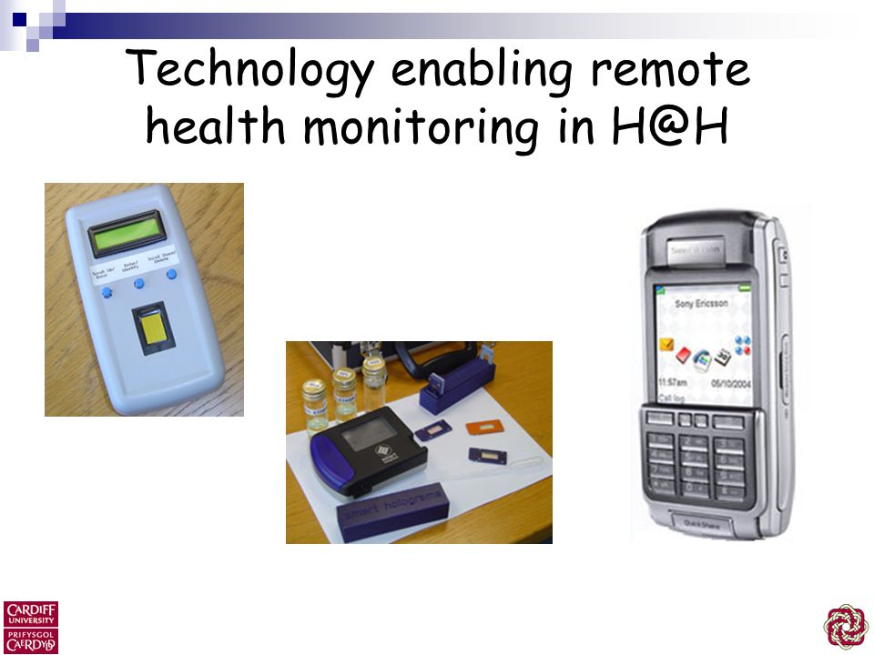 Technology enabling remote health monitoring in H@H
