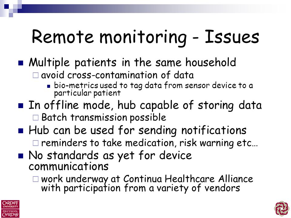 Remote monitoring - Issues