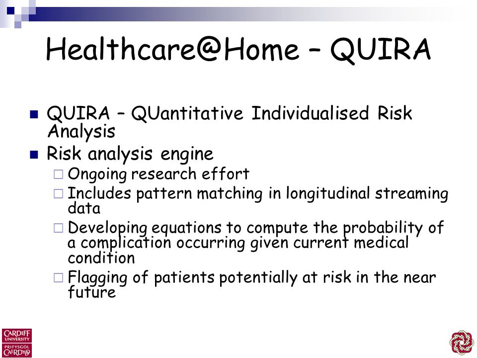 Healthcare@Home – QUIRA