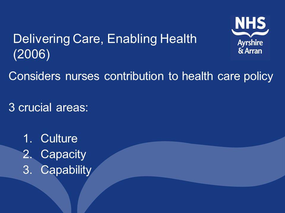 Delivering Care, Enabling Health (2006)