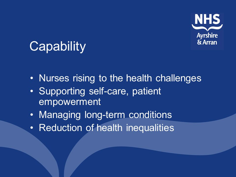 Capability Nurses rising to the health challenges