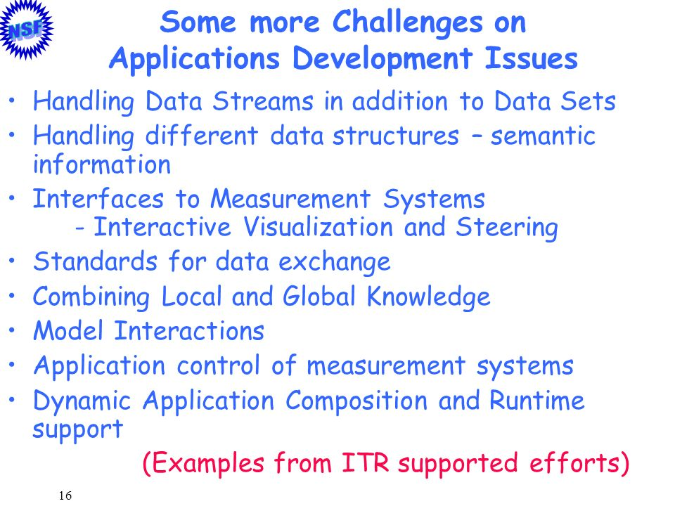 Some more Challenges on Applications Development Issues