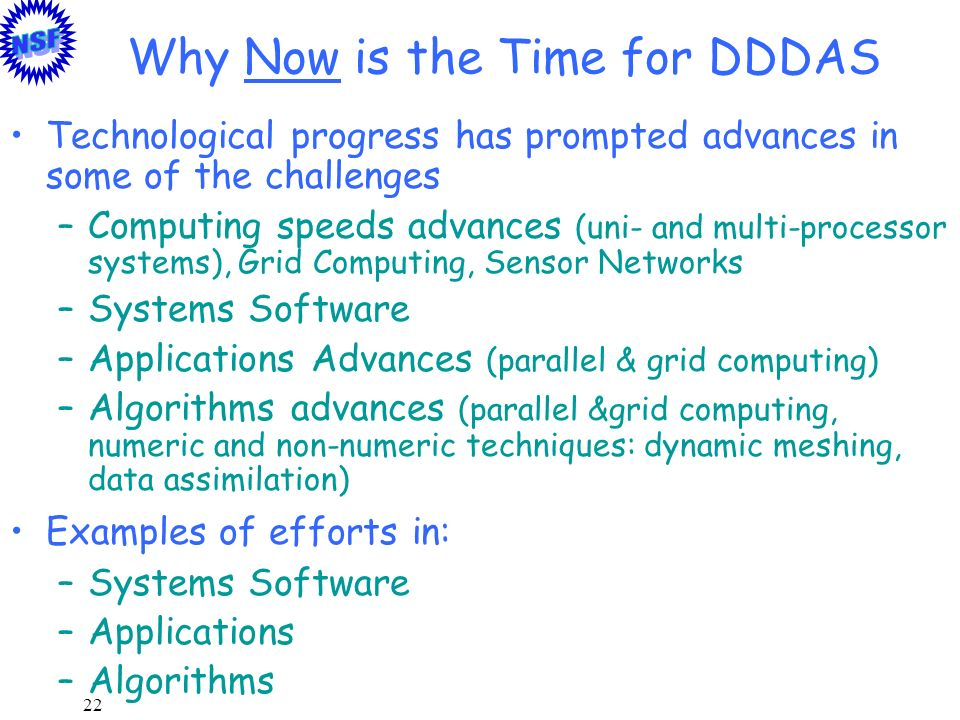Why Now is the Time for DDDAS