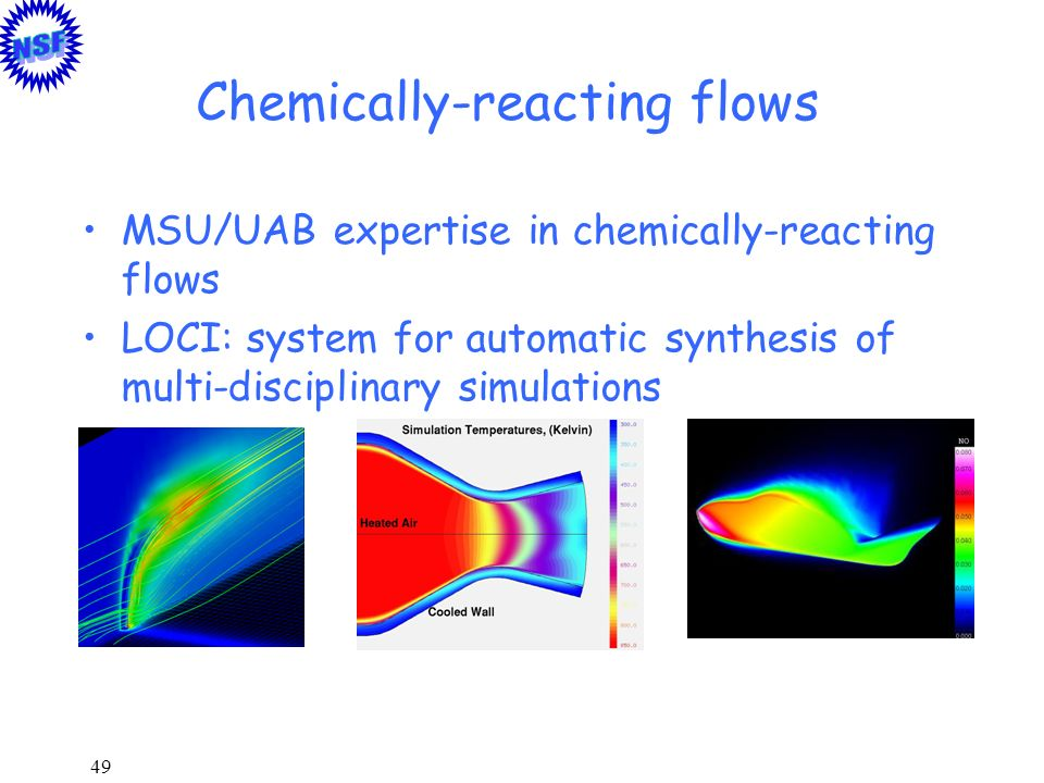 Chemically-reacting flows