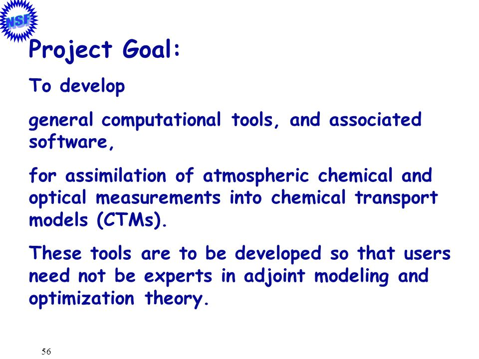Project Goal: To develop