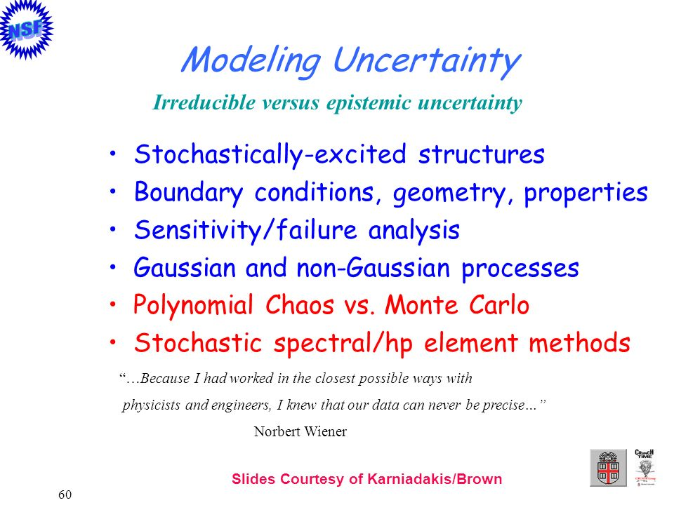 Modeling Uncertainty Stochastically-excited structures