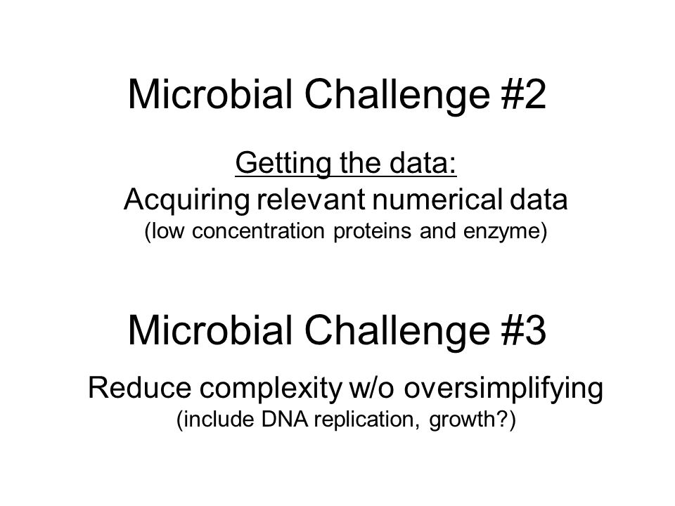 Microbial Challenge #2 Microbial Challenge #3 Getting the data: