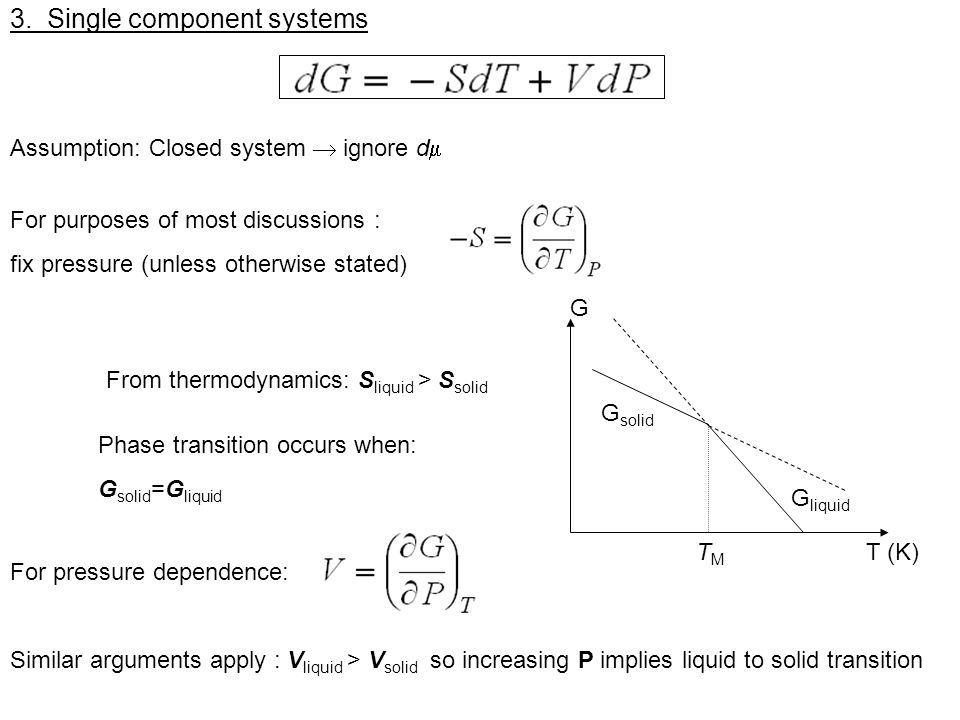3. Single component systems