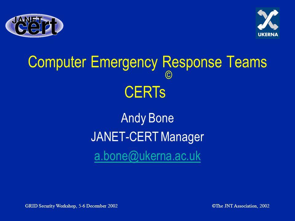Computer Emergency Response Teams