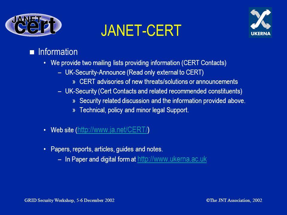 JANET-CERT Information