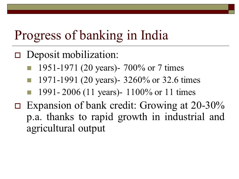 progress of banking in india This page summarizes doing business data for india it includes rankings, data for key regulations and comparisons with other economies.