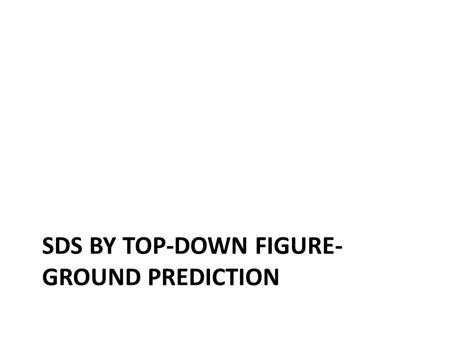 SDS by top-down figure-ground prediction