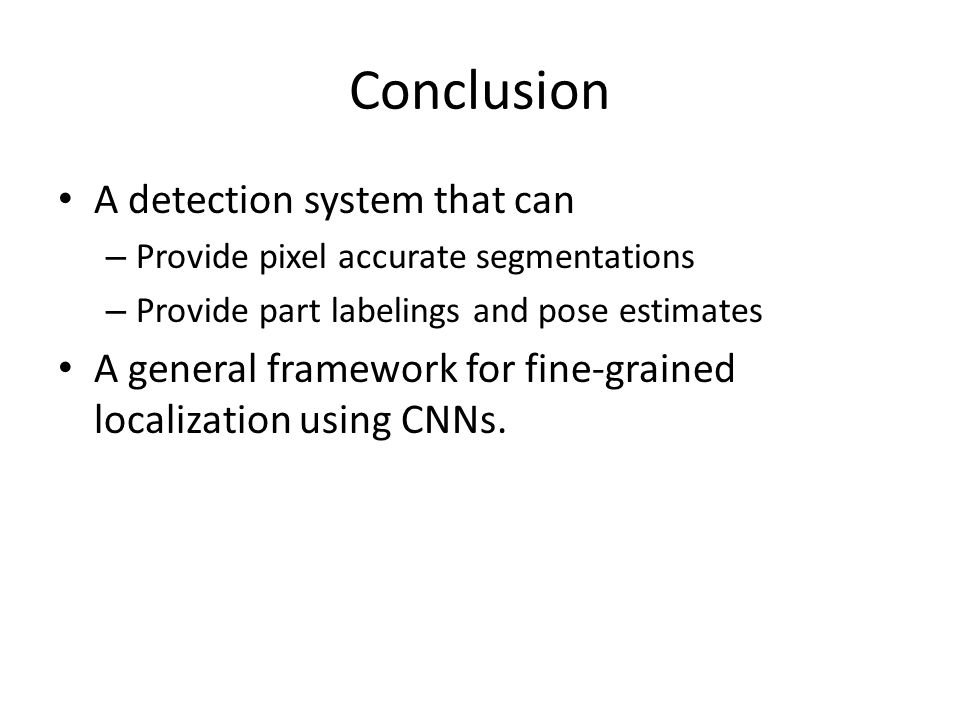 Conclusion A detection system that can