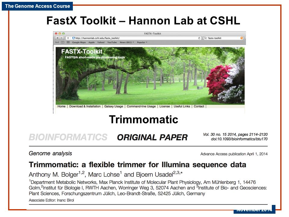 FastX Toolkit – Hannon Lab at CSHL