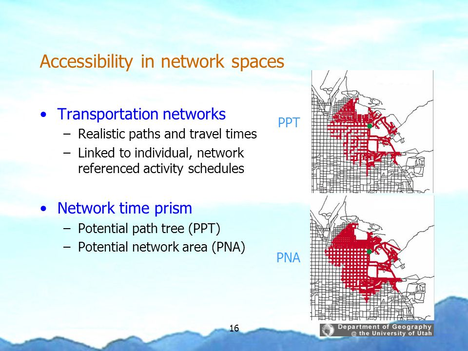 Accessibility in network spaces
