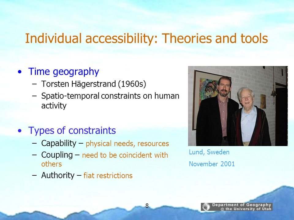 Individual accessibility: Theories and tools