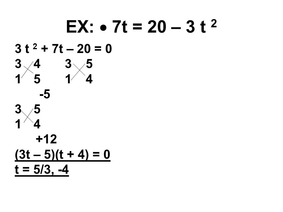 OBJ To solve a quadratic equation by factoring ppt download – Practice 5-4 Factoring Quadratic Expressions Worksheet Answers