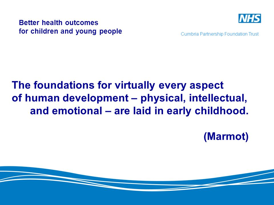 Better health outcomes for children and young people