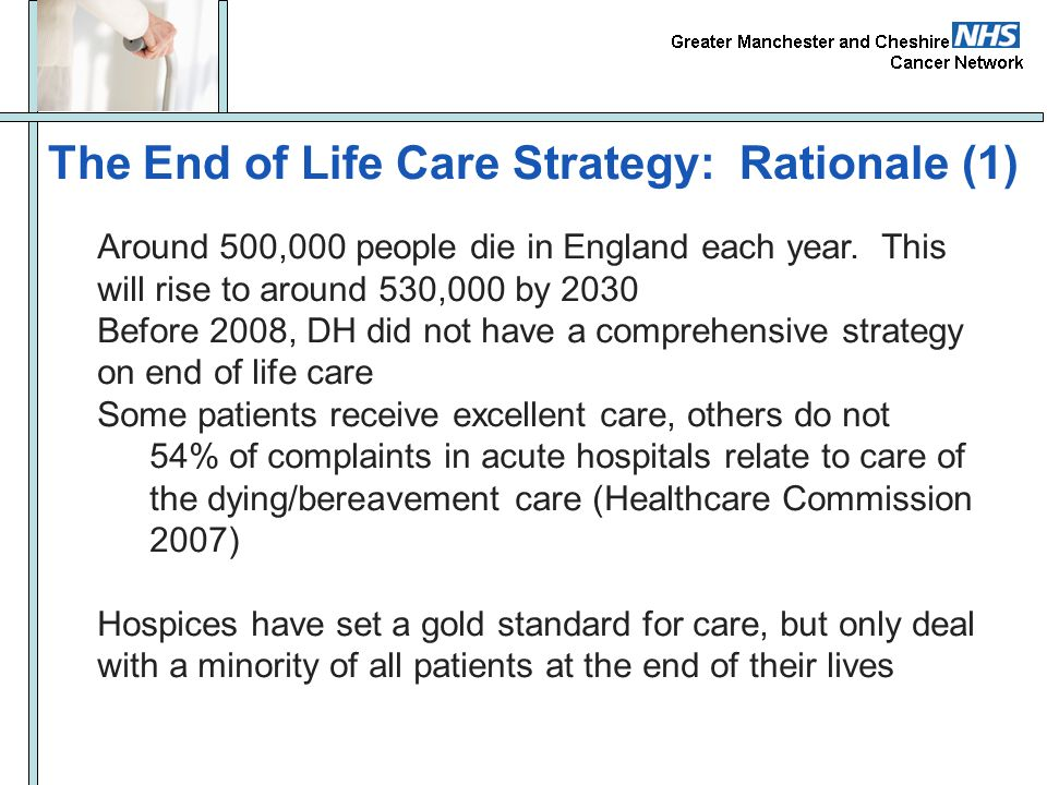 The End of Life Care Strategy: Rationale (1)