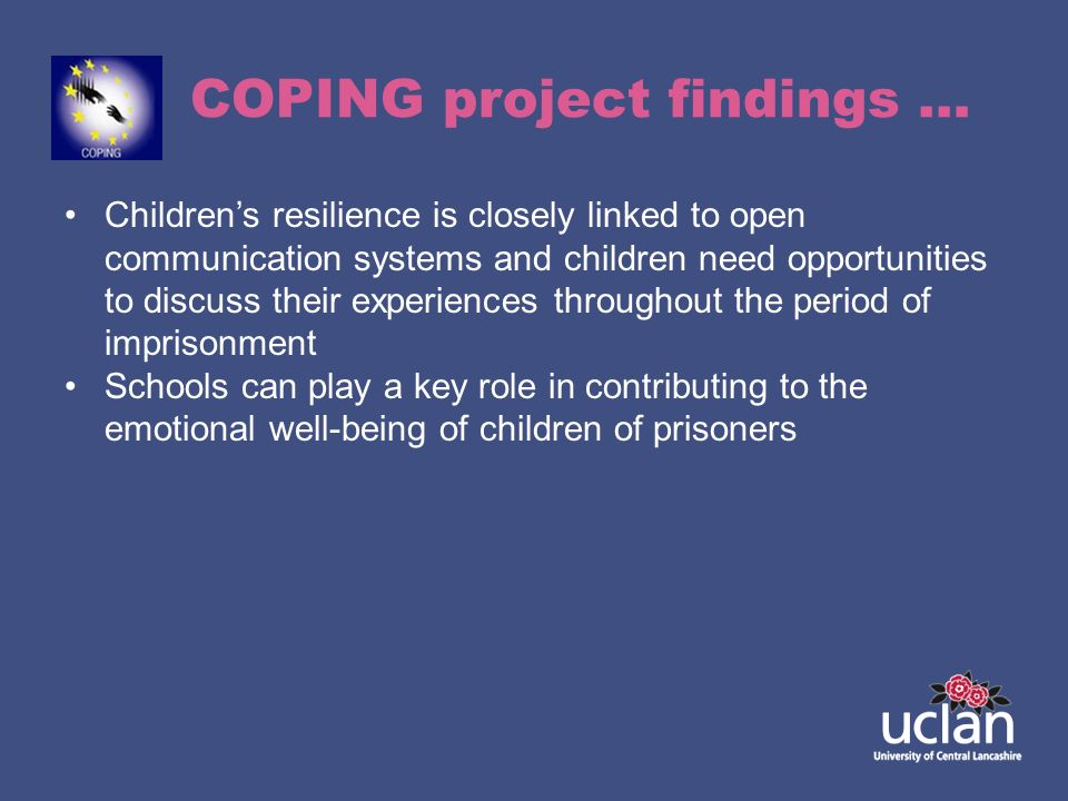 COPING project findings …