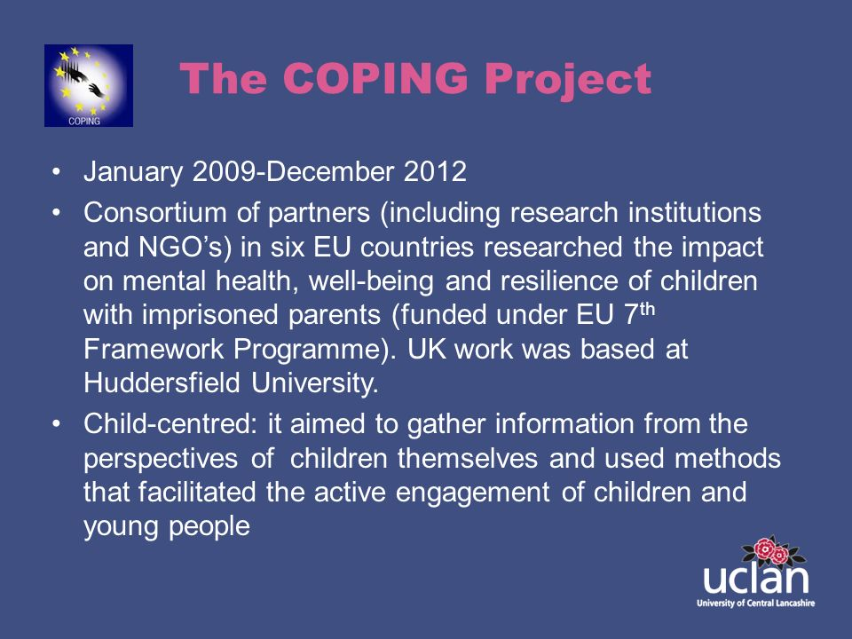 The COPING Project January 2009-December 2012