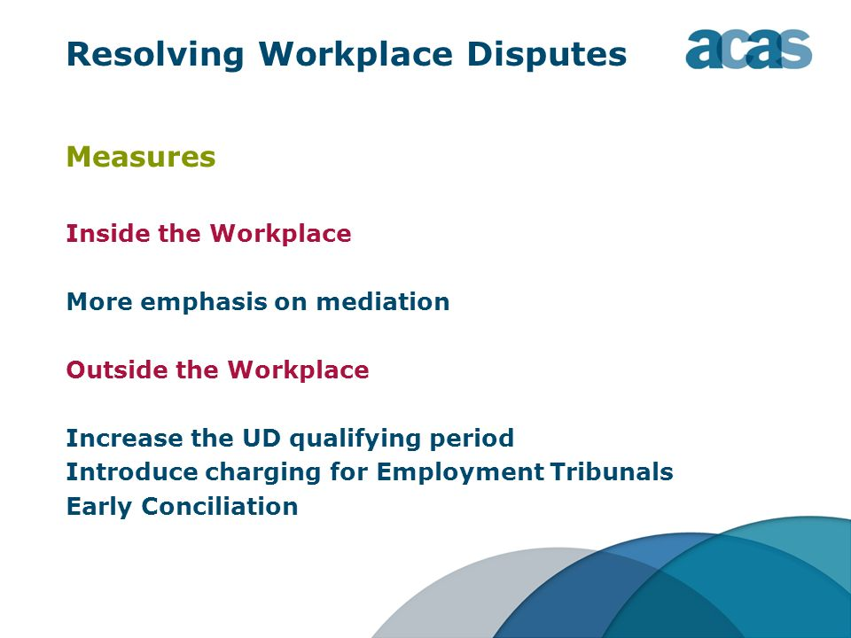 Resolving Workplace Disputes