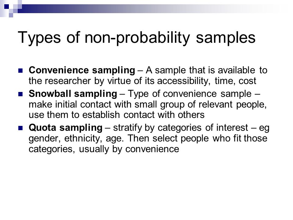 what is a convenience sample in research Convenience sampling is a method for researching in which the researcher uses subjects that are easy to find though convenience.