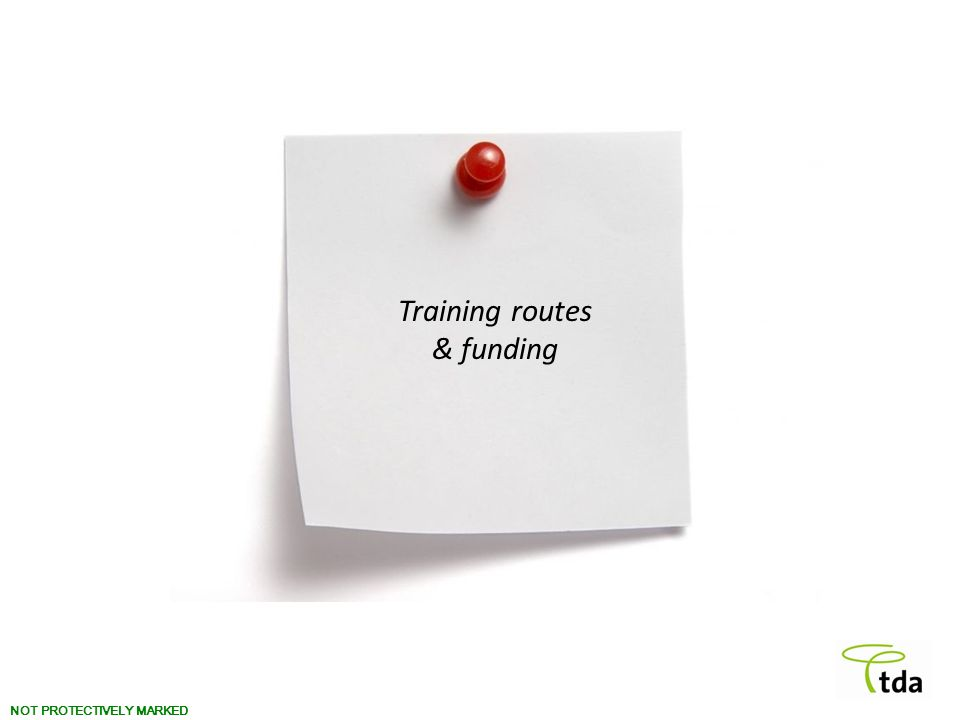 Training routes & funding