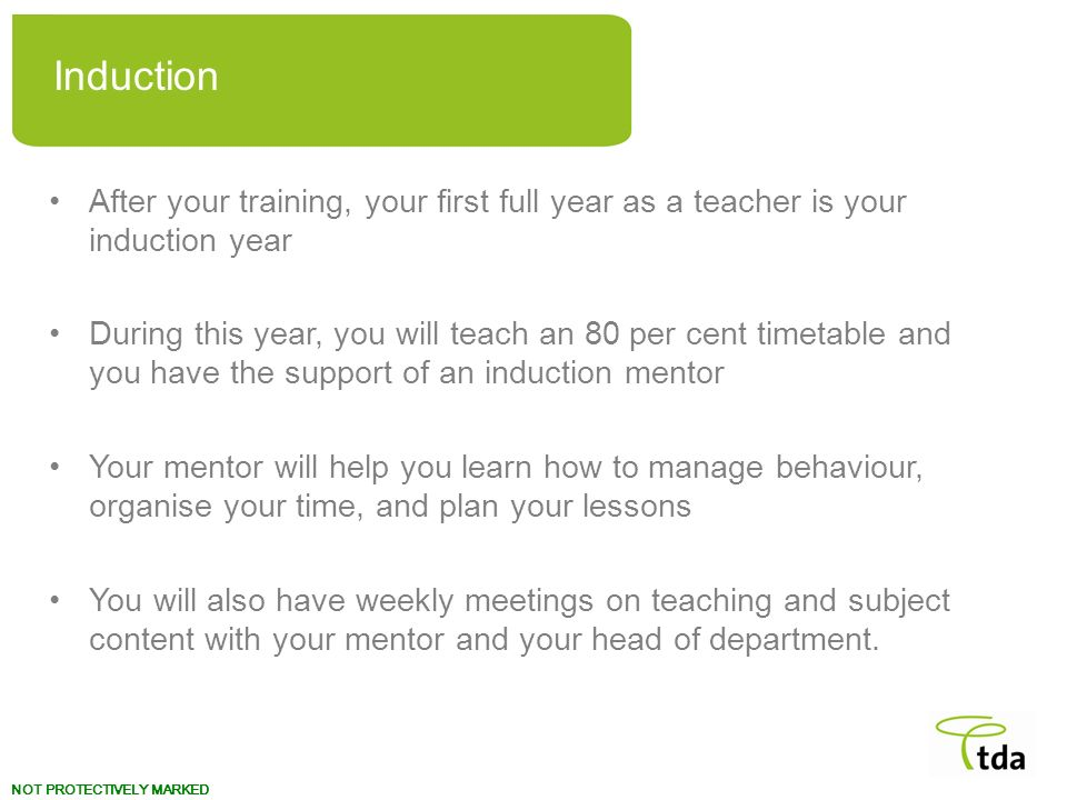 Your teaching career Induction